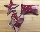 Primitive Patriotic Americana Stars and Stripes  Bowl Filler Pillow Tucks