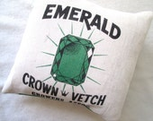 Emerald Green Grain Sack Pillow - lesliejanson