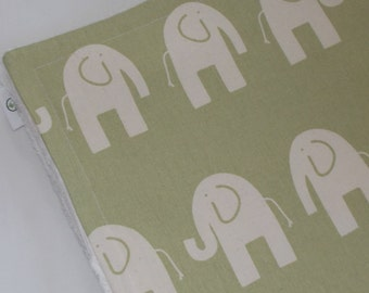 Reed and Natural Ele Chenille Receiving Stroller Blanket