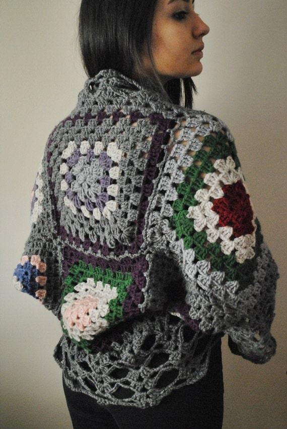 Sale Crochet Vest Granny Squares Cardigan Crochet Afghan