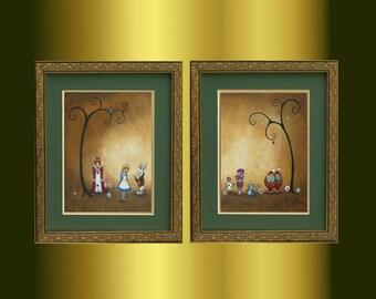 Alice in Wonderland Art - Encore -- Whimsical Art Acrylic Painting - Fairytale Art - Wonderland Art - Limited Edition Print Set  -- 11x14