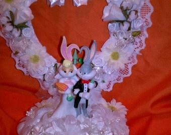 Goebel Bugs Bunny Lola Wedding Cake Topper