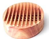 Oval  Natural Cedar Wooden Soap Dish