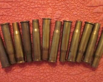 Brass Bullet Casings - One Dozen 30-30