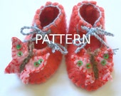 Instant Download Felted Baby Booties Pattern  PDF with Butterflies - Sell finished items