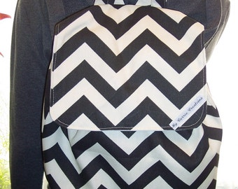My Carrie Chevron Zig Zag Stripes Full Sized Backpack Many Colors Available