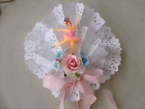Birthday decoration beautiful shabby chic ballerina wand cake - Shabby chic wand ...