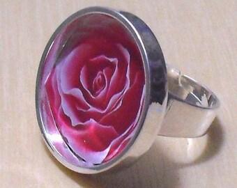 2 pcs silver tone circular Adjustable Ring Blank