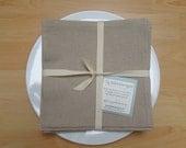 Organic Napkins, Table Linens, Linen Cotton, Oatmeal, 4