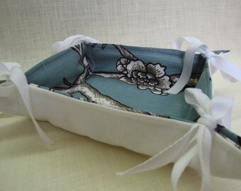 So Chic Tray, Fabric Basket, Organizer, Vintage Blossom