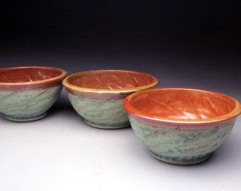 """Stoneware Bowl-Fern Pattern """"Made to Order"""""""
