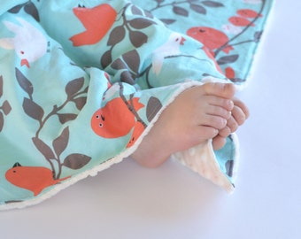 Minky Security Blanket Tweetie Pie Baby Girl Blanket, Lovey