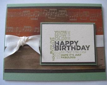 Happy Birthday Handmade Textured Greeting card