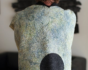 Kimono Quilt - choose your fabric - secret moon in brown batiks - made to order