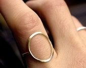 circle ring silver circle ring gold circle ring modern gold ring minimalist ring simple cocktail ring big circle ring large open CIRCLE RING