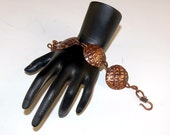 Textured Domed Copper Bracelet 8 inch length CLEARANCE