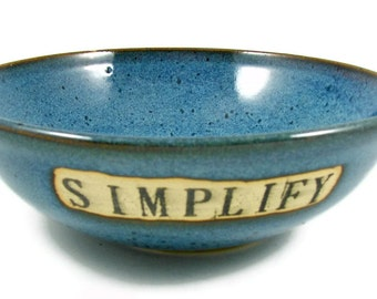 Ceramic Custom Bowl - Personalized and Handmade for You - Wheel Thrown Stoneware Clay Pottery
