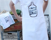 Fathers Day Gift / Brewers Apron / Beer Brewing Apron / Home Brewing / Kitchen / Men's Apron / Hops