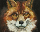 Fox 1 20x20 inch Print of oil painting by Roz