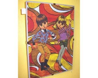 retro big eye print 1960's style mod vintage go go dancers eve  sad eye kitsch