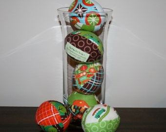 Wheels Easter Eggs - half dozen stuffed fabric eggs - Great for decoration or basket filler