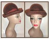 Kangol of England Brown Angora Winter Garbo Hat - Stylish and Soft