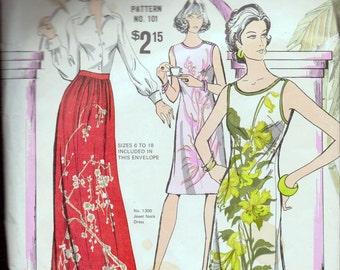 Vintage Sewing Pattern  Alfred Shaheen Hawaiian Pattern 101 Complete Uncut