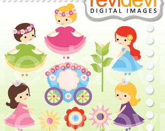 Princess clipart - Spring Princess - Digital cliparts