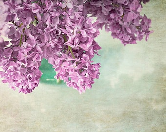 Lilac Still Life Photography, Shabby Chic Wall Decor, Purple Flower Wall Art, Lilac Photo
