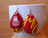 Arby earrings recycled I'm thinking Beef on a bun Gift card Tear Drop