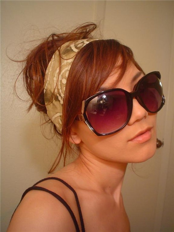ASHLEY BLACK Vintage 1960 70's style Retro shades Oversized women solid ombre SUNGLASSES free shipping with any headband order
