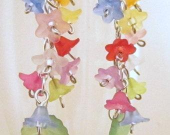 Chain of Flowers Earrings