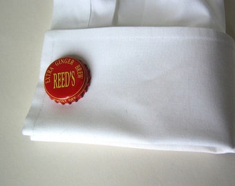 Custom Bottle Cap Cufflinks - Flowers, Dots, Coors, Bud, Coke, Teem, Bireley's, Fresca