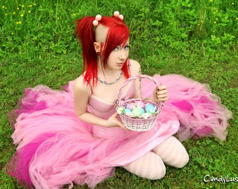 Cotton Candy Pink and Fuchsia Formal Alternative Wedding Skirt All Sizes MTCoffinz