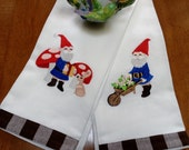 A Pair of Gnome Towels for the Kitchen