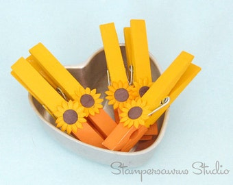 SUNFLOWER Clothespins