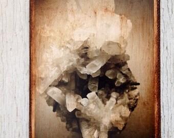 Rock quartz crystal photo D - Wall Art