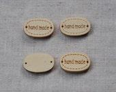 12 pcs+ Zakka Tiny Handmade Wooden Tags/Buttons