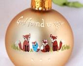 Adoption Ornament  - Fox Family, Personalized