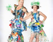 """3 Blank Greeting Cards-""""Recycling is Always in Fashion"""""""