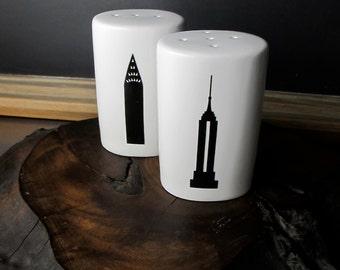 NY Landmark Salt and Pepper Shakers