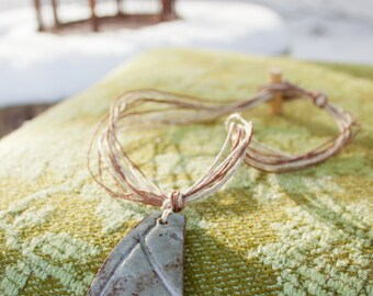 Ghost of Spring 3 - rustic stoneware necklace