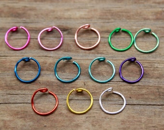 22g Colors Itty Bitty Infinity Nose Ring.