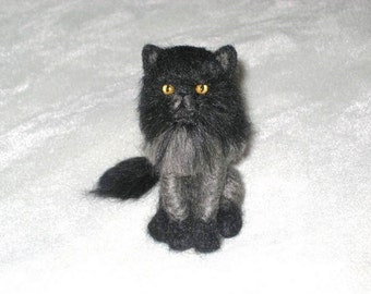 Needle Felted Cat / Custom Pet Portrait by Gourmet Felted / example Lion Cut Persian