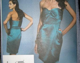 Vogue Badgley Mischka Misses Evening Dress Sz  10-16  V1273   Uncut