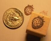 P24 Strawberry miniature rubber stamp miniature