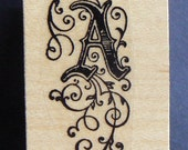 P29  Monogram letter A rubber stamp WM