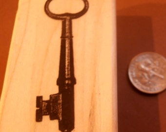 Victorian key rubber stamp P12