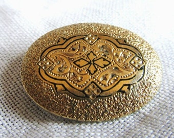 SALE 1800's Victorian Taille D'Epargne Mourning Brooch/Pendant Was 32.99 Now 27.99
