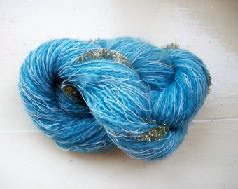 Hand painted novelty yarn 50g true mid blue